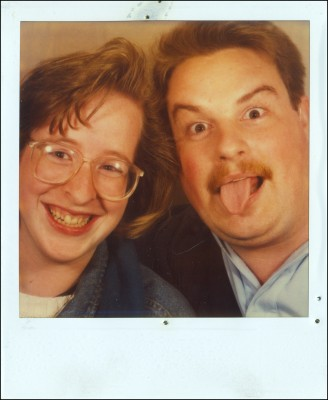 Our first picture together - a Polaroid, taken Nov. 1989